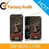 One Piece Back Cover For iPhone 4 - Brave Luffy (Black Bezel)