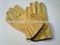 Cow grain driving gloves for men