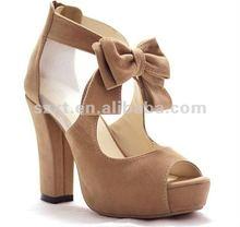 Thcik heel sandals cheap ladies platform shoes 2012