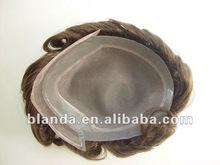 New 100% real natural human hair men full wig wigs toupee,can be restyled