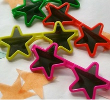 12 Novelty Star Sunglasses. Green, Orange, Pink, Yellow - Great for Party Bags
