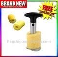 Küchehand bearbeitet automatischen Schäler der Ananasschäler corer Schneidmaschine