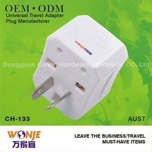 power socket with usb charger World 2012 travel accessories