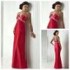 Flirt Design Floor Length V-neckline Backless Cheap Red Dresses Evening 2012