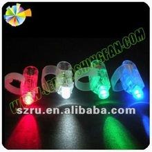 Fashion led flashing silicon finger light for electronic toy