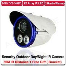 540TVL COLOR SONY CCD CCTV CCD DUAL ARRAY LED Waterproof IR Bullet Outdoor Camera