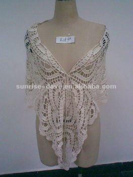 Crochet Shawl, Fashion Accessory, Knitting Wear