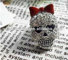Skull Heads finger ring in stock from china