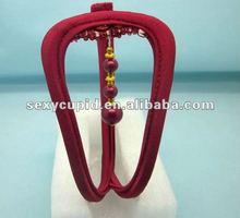 2012 wholesale sexy red beaded C String tanga K4216