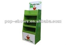 Green tea ratial supermarket rack