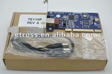 1 port T1/E1 Asterisk card TE110P With Echo Cancellation