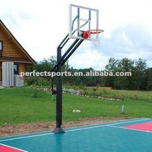 Manual adjustable basketball hoops/stand
