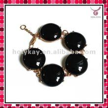 Cool Black Men's Bubble beds bracelet, Top qualtity 2012 fashion bracelet jewelry