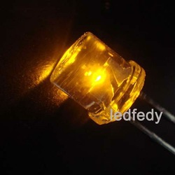 5mm flat top led with Yellow
