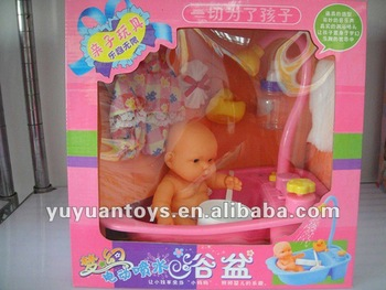 Electric bath with light, music and doll set