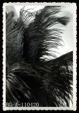 artificial black wedding ostrich feathers plumes