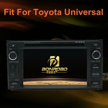 HD touch screen double din car stereo gps for toyota universal bluetooth RDS radio TV tuner CDC TMC