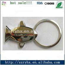 2012 custom fish design metal keychain