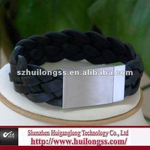 stainless steel magnetic braided bracelet