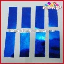 Shinny Blue Mettalic Foil Paper 2*5 cm Rectangle Confetti