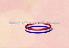 France flag stripe silicone bracelet
