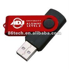 New arrival! 2gb swivel plastic usb flash drive with super quality