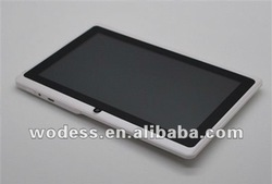 7 inch best low price tablet pc with allwinner A13 CPU capacitive screen WIFI camera: A13B