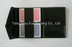 Standard playing cards in PU pouch