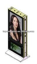 """55"""" double lcd digital display floor standing digital signage,vertical standing digital totem for shopping center"""
