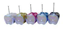 Protable mini usb speaker with microphone with TFcard slot USB disk FM radio