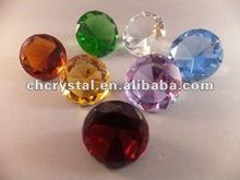 crystal glass colorful diamond , colorful diamond wedding favors