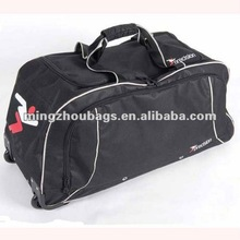 2012 New Style Large heavy-duty wheeled Football Team Kit Bags Use 600*300D Polyester And Price Will Cheap