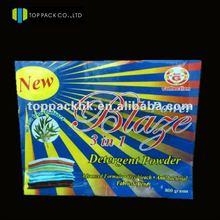 Custom plastic washing powder packing bag/800 grams