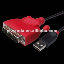 USB to 1284 print cables, DB25 MALE PRINTER CABLE ADAPTER