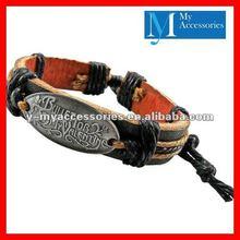 Cheap engraved leather bracelets wholesale 2012