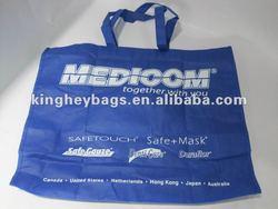 blue fabric shopping bag