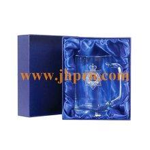 Decorative cardboard box for wine glasses