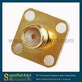 Sma jack solda flange conector para. 086'' cabo superfície montagem fêmea conector sma reverso