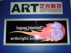 Advertising LED flashing light box(with aluminum frame)