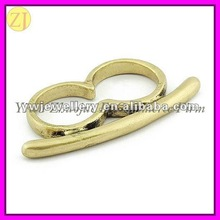 Ladies Alloy Metal Two Finger Ring Jewel Accessory JZ-546