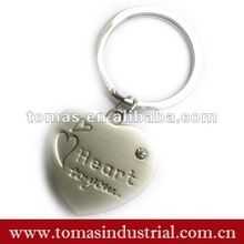 2012 best selling zink alloy heart keychain