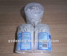 Dental plastic toothpicks in T shape for pp bottle pack/Dental flosser/Bottle pack tooth floss picks