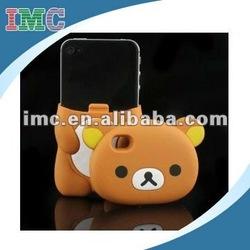 Cute 3D Brown Rilakkuma Bear Hard Case Cover for iPhone 4 &4S (IMC-TOIPH-0766)
