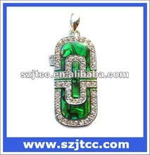 Necklace diamond usb flash pen drive,oem jewelry usb flash disk,jewellery usb flash driver