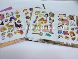 Children fashion design funny sticker book