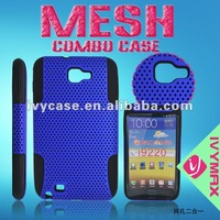 fancy protector blue hybrid hard and soft skin silicone case for samsung galaxy i9220 note