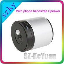 2012 hot sale metal case mini bluetooth speaker with handfree standard 3.5 Jack