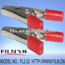 50mm insulated nikel plated battery crocodile clip