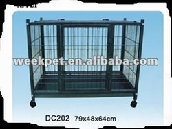 convenient to install , easy to clear metal cage for dog