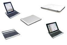 Black bluetooth wireless keyboard case for apple new ipad 2